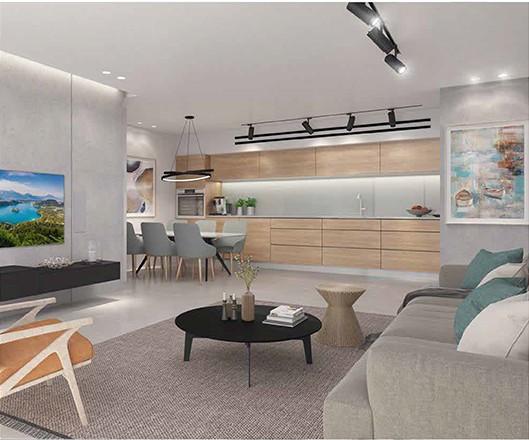הדמיית דירה טיפוסית התנאים 4-10 תל אביב